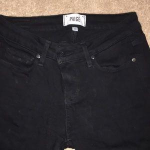 Paige black skinny jeans 26